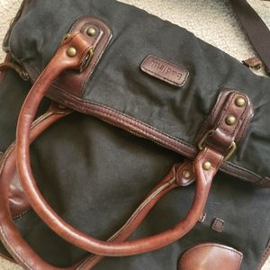 Bedstu large canvas and leather bag